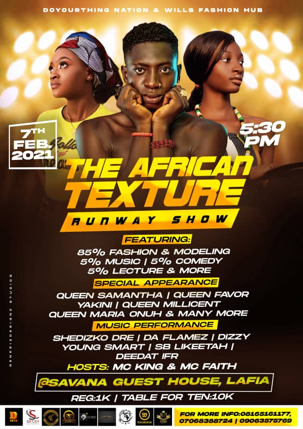 [EVENT]: THE AFRICAN TEXTURE RUNWAY SHOW - live in Lafia, nasarawa state #TATRS