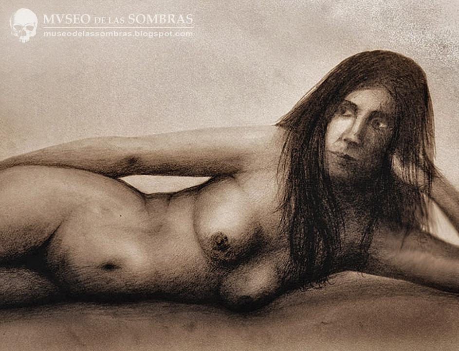 Tablero desnudo de la muchacha