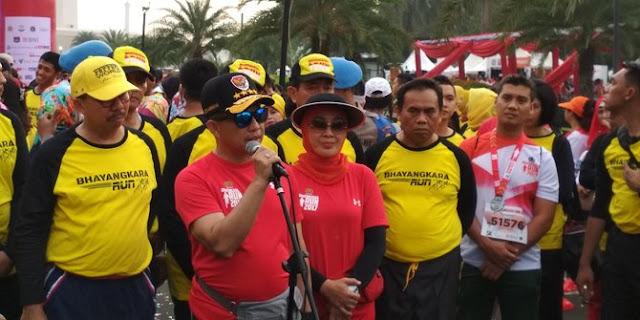 10 Ribu Pelari Ikut Bhayangkara Run 2017, Jakarta Aman
