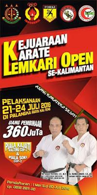 Kejuaraan Karate Se-Kalimantan 2016 Di Palangka Raya