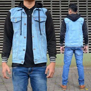 jaket jeans pria terbaru