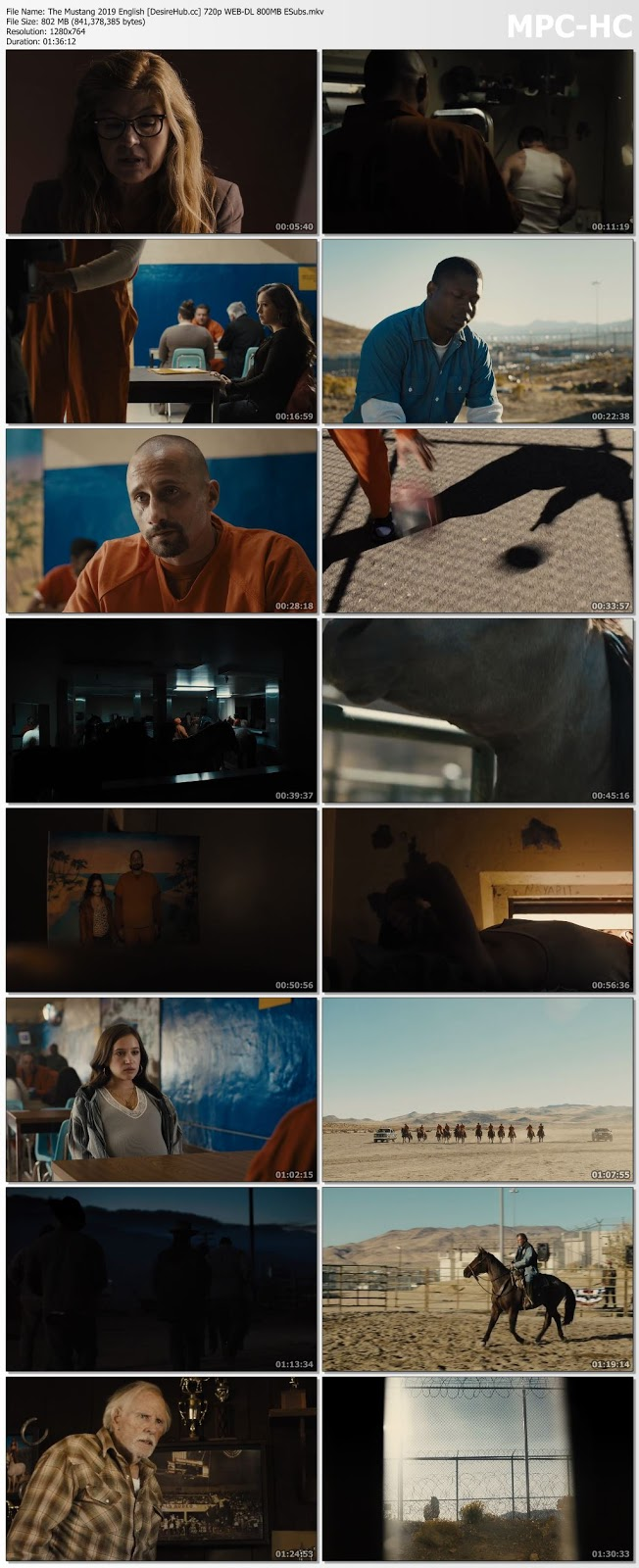 The Mustang 2019 English 480p WEB-DL ESubs 300MB Desirehub