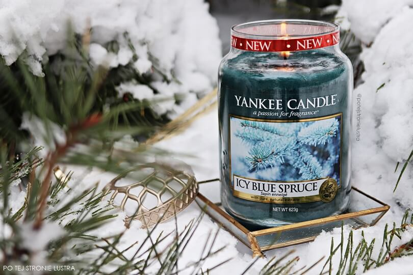 yankee candle icy blue spruce blog recenzja