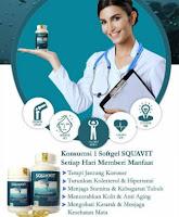 COD.E-614 SQUAVIT 40 Softgel - 3x Lebih Cepat Turunkan Kolesterol - 100% Original Squalene Premium