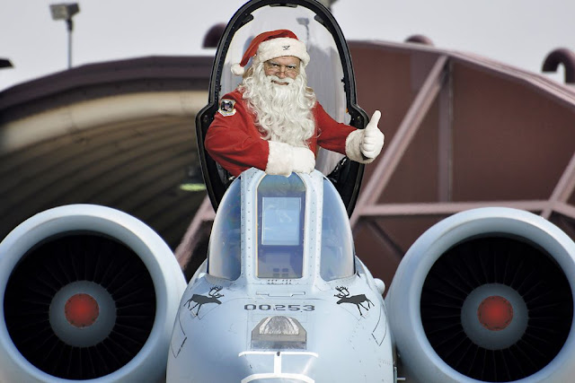 Santa Claus USAF Navy Army Marines