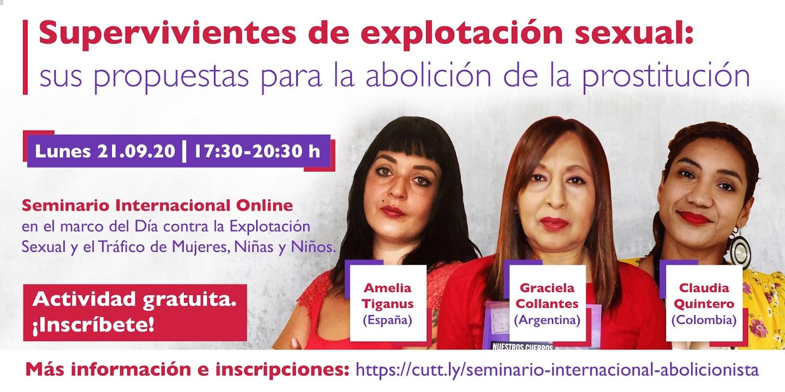 Abolicionista Del Porno seminario. supervivientes de explotaci�n sexual | front