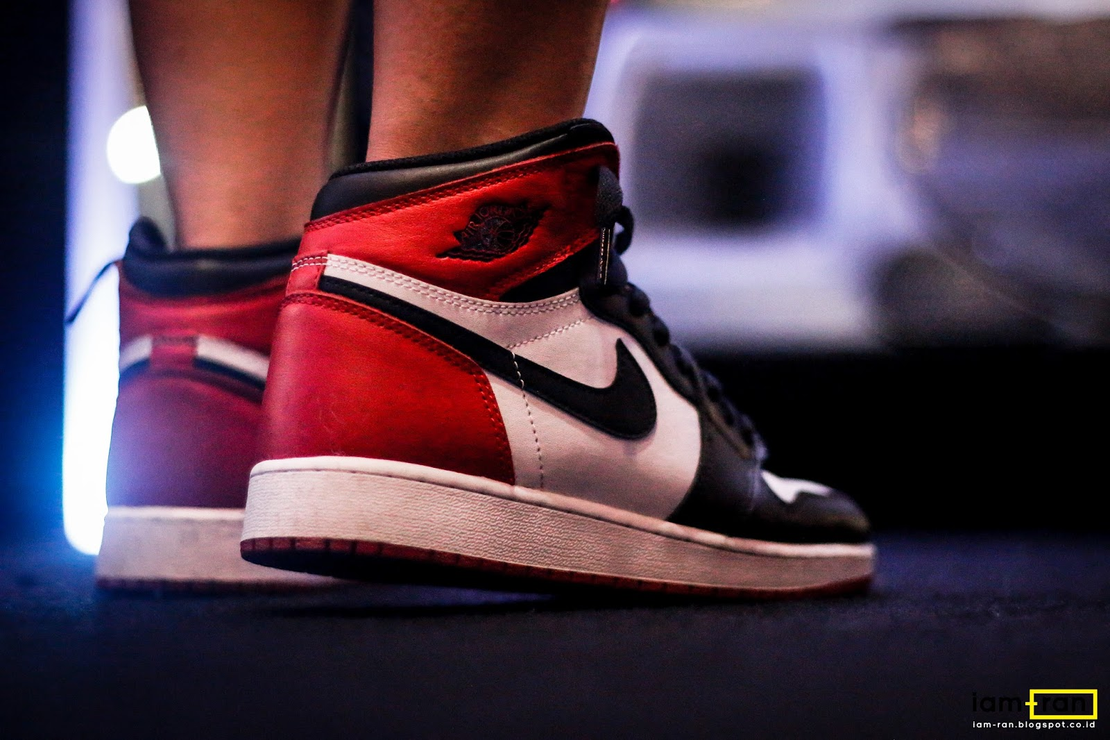 Agnes on feet. Sneakers   Nike Air Jordan 1