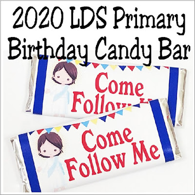 If you are looking for a fun primary birthday idea for the kids in your church, print out this Come Follow Me candy bar wrapper. The kids will love being reminded of Jesus and being wished a Happy Birthday with a chocolate treat.