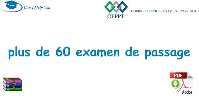 plus de 60 examen de passage TEMI [theorique+pratique] tout les variants (PDF) OFPPT telecharger .