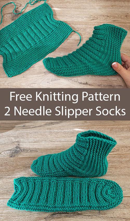 Amazing Knitting: Easy Two Needle Ribbed Slipper Socks ...