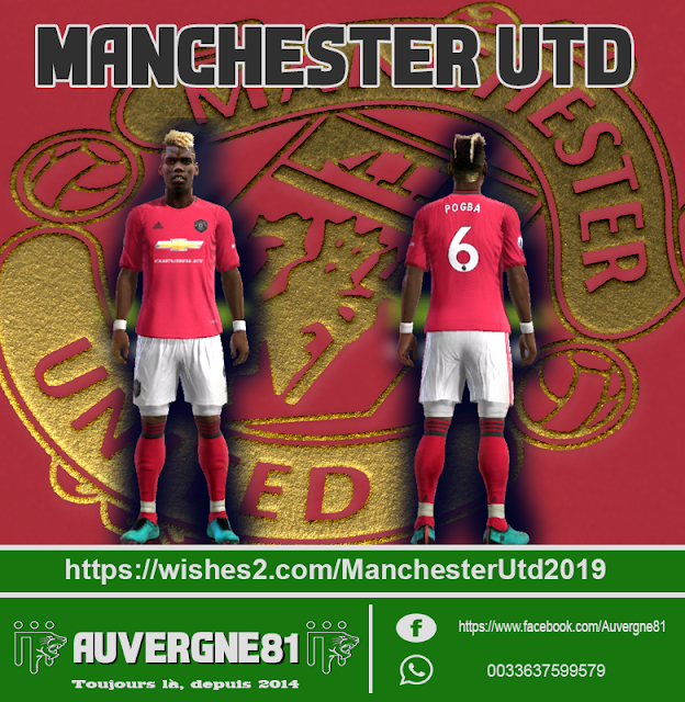 ef1d8128747 PES 2013 Manchester United Home Kit 2019-2020