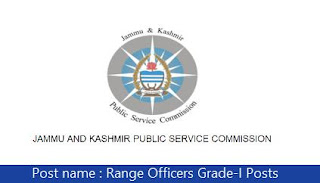 JKPSC Recruitment 2018 44 Range Officers Posts