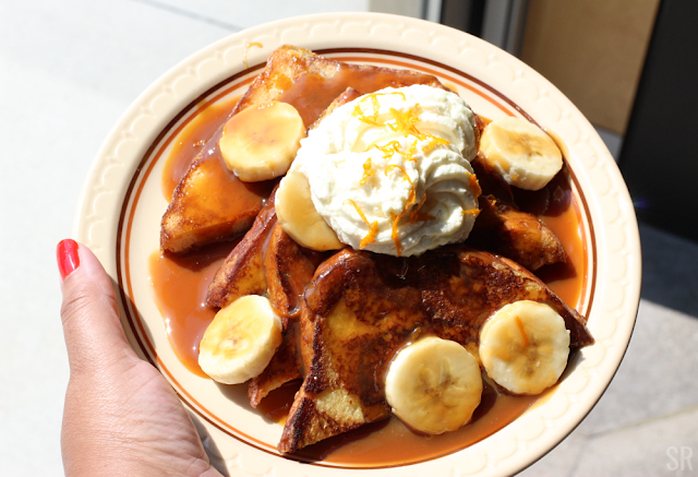 a plate of Bananas Foster