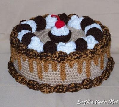 örgü yaş pasta modelleriı