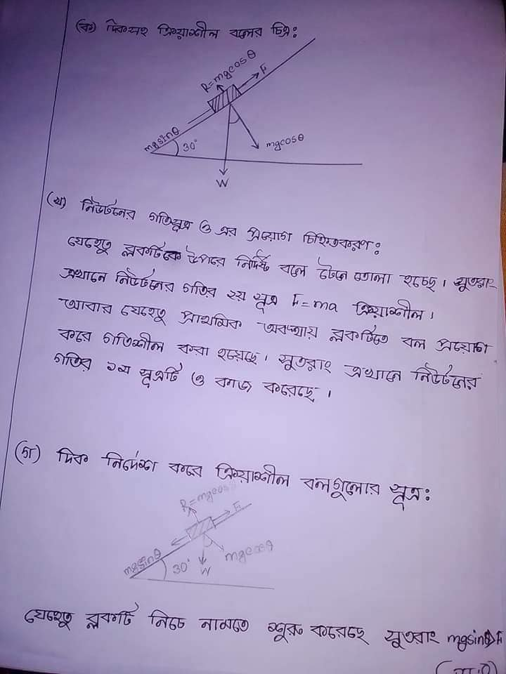 HSC Physics 4th Week Assignment Answer 2021