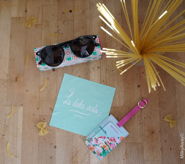 Accessoires de la My Little Box Amalfi du mois d'avril