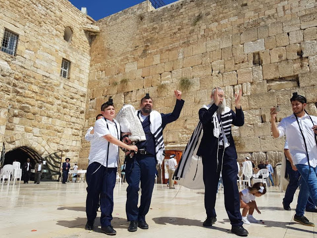 Bar mitzvah of boy with autism at Western Wall