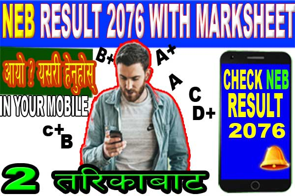 NEB result 2076 with Marksheet