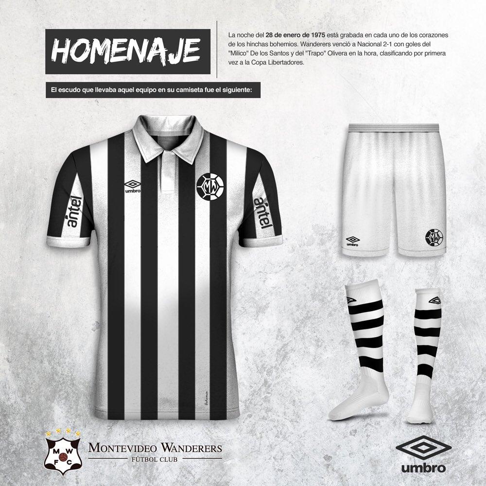 Umbro lança as novas camisas do Montevideo Wanderers - Show de Camisas 788b906d81260