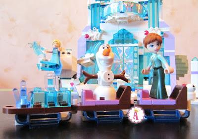 LEGO санки с персонажами из мультика Frozen