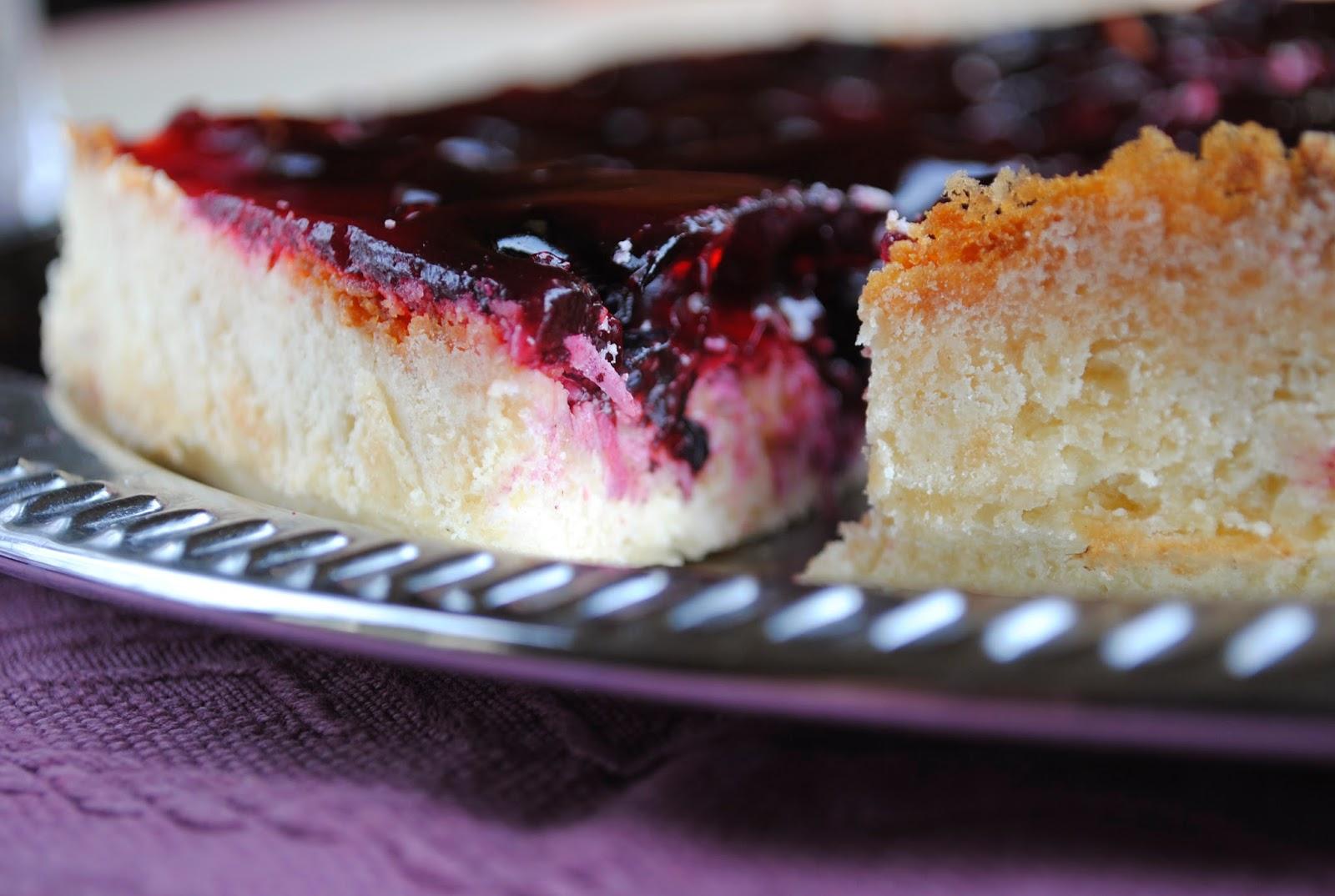 Vegan Blueberry Jelly Cake