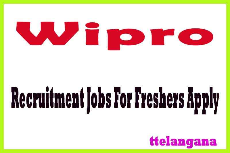 Wipro Recruitment For Freshers Apply