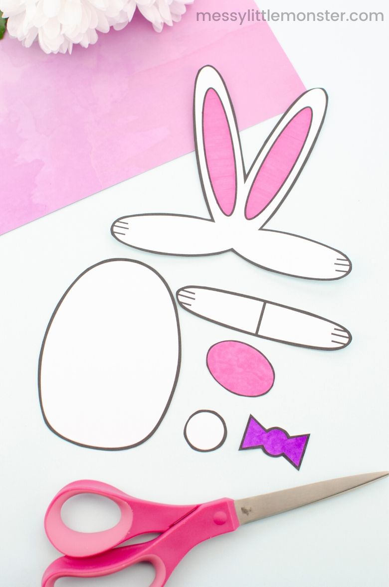bunny craft template