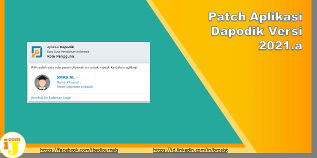 Patch Aplikasi Dapodik Versi 2021.a