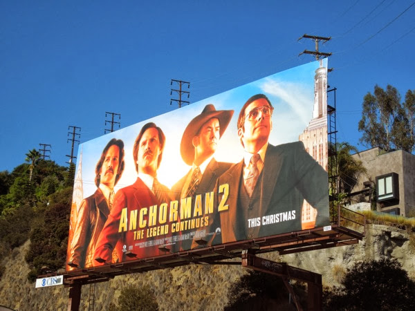 Anchorman 2 The Legend Continues movie billboard