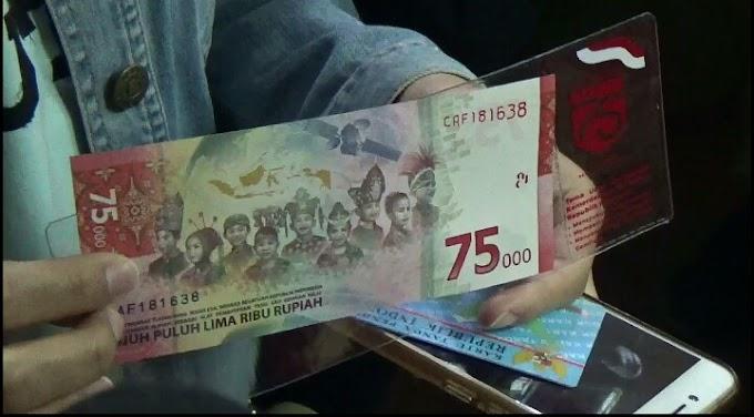Bank Indonesia Jember Penukaran Uang Pecahaan 75 Ribu Edisi HUT Kemerdekaan Sesuai Protokol Covid -19.