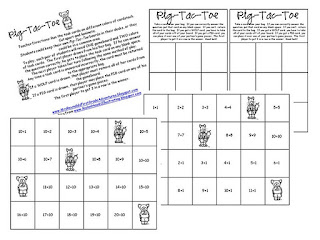 Oh My Little Classity Class: [Pig-Tac-Toe] Addition Practice