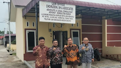 Kantor Hukum LAW OFFICE CHOIRUDDIN SH & ASSOCIATES Resmi Dibuka di Tebingtinggi