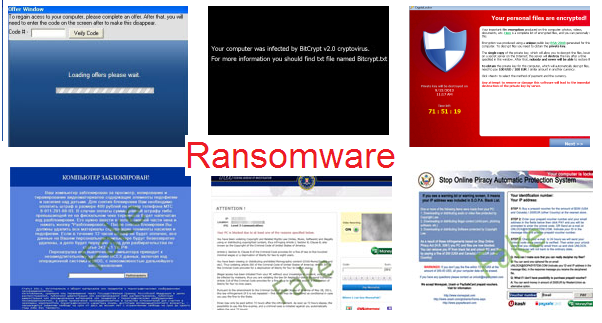 Examples of ransomware