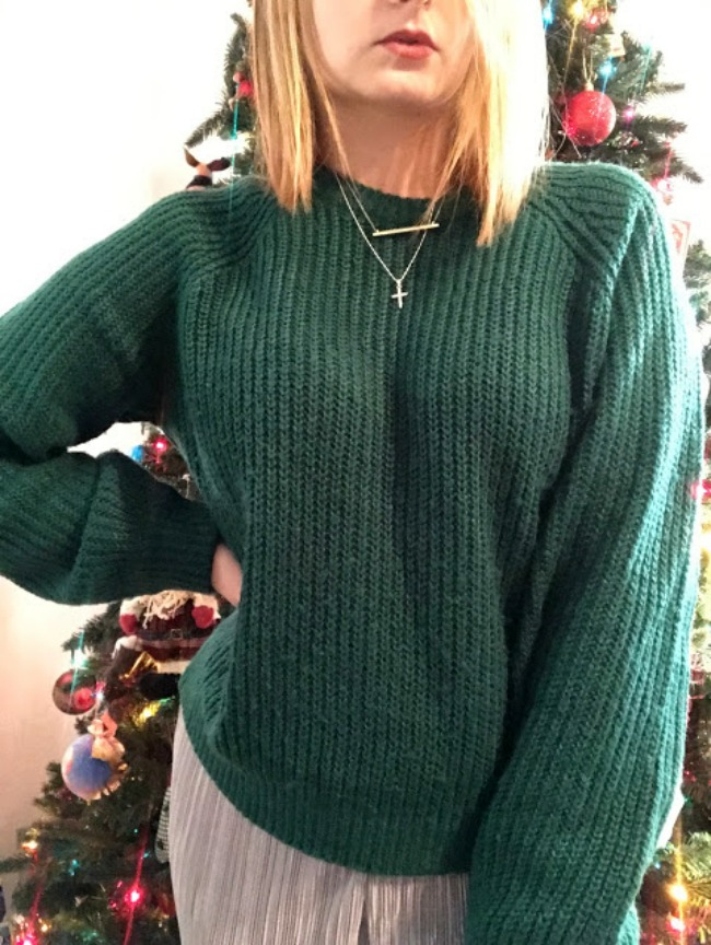 Sweater + Necklaces