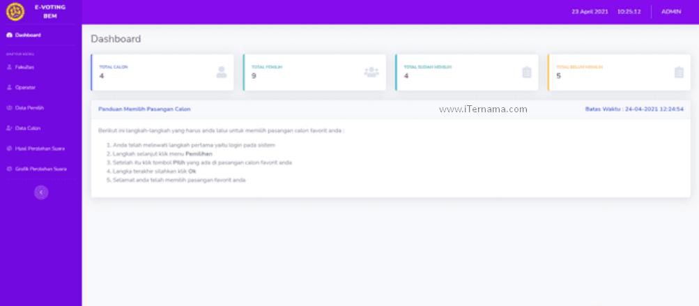 Source Code Aplikasi E-Voting BEM Berbasis Web