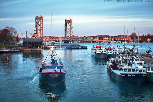A fishing boat in portsmouth harbor