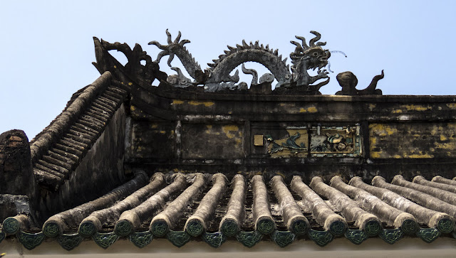 Temple with a dragon motif in Hoi An Vietnam