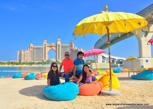 Lady and family at The Pointe Dubai