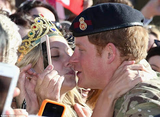Woman who kissed Prince Harry