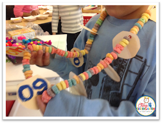 100th day of school necklace  from Time4kindergarten