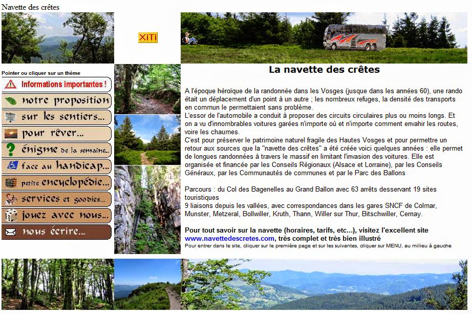 Capture d'écran publiée avec l'aimable autorisation  de Vosges,Rando