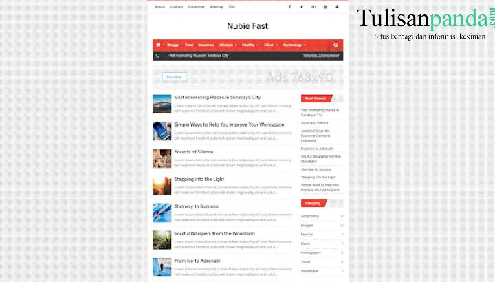 download template nubie fast free