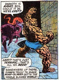 Fantastic Four 144-Attack-Thing-Medusa
