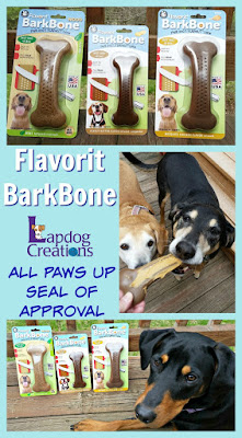 doberman mix rescue dog flavorit barkbone chew