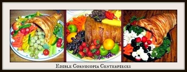 Edible Cornucopia Centerpiece