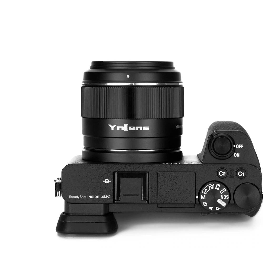 Объектив Yongnuo YnLens YN 50mm f/1.8S DA DSM с камерой Sony