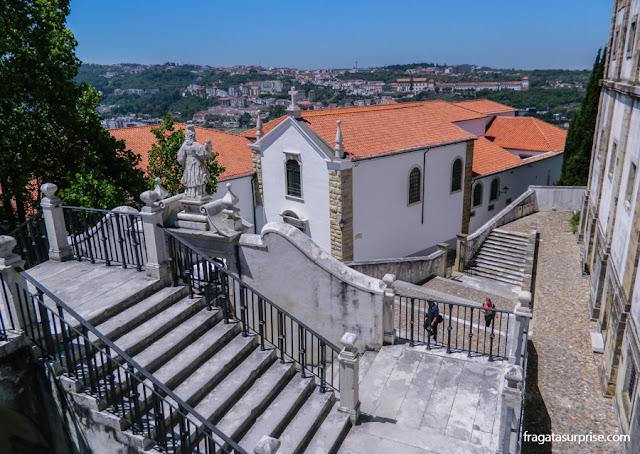 A Escadaria de Minerva, um dos acessos ao Paço das Escolas