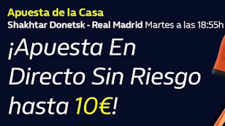 william hill Apuesta de la Casa Shakhtar vs Real Madrid 1-12-2020