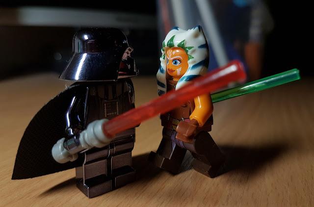 Darth Vader and Ahsoka Tano Star Wars rebels