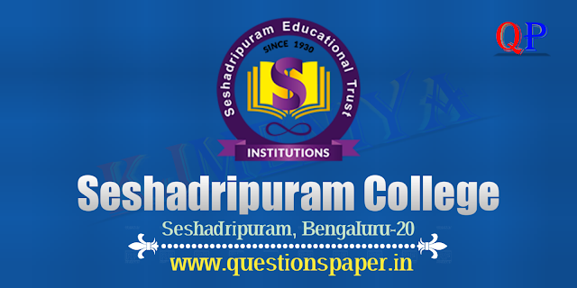B.Com Semester 5 Question Papers Seshadripuram College Bengaluru